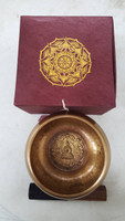 Singing Bowl - Hand Beaten with Buddha Etching on Inside Gift Pack