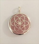Seed of Life Pendant with Rose Quartz
