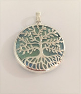 Tree of Life with Aqua Aura Pendant
