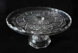 Leverne Antique Pattern Glass Pedestal Cake Stand