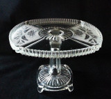 Flower Pot Antique Glass Pedestal Cake Stand SOLD