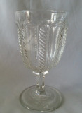 Cable Pattern Flint Glass Goblet EAPG