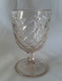 Smocking Flint Glass Goblet Sandwich
