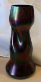Rindskopf Stunning Red Marble Iridized Bohemian Glass Vase