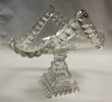 Crystal Wedding Pattern Glass Banana Stand EAPG