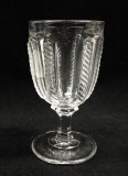 Cable Flint Glass Goblet EAPG Sandwich Glass