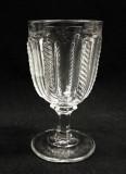 Cable Flint Glass Goblet EAPG Sandwich Glass