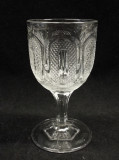 Buckle EAPG Flint Glass Goblet