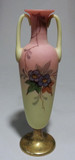 WEBB & Signed CLARKE'S FAIRY Burmese Glass Vase Painted Hawthorne
