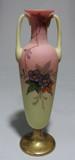 WEBB & Signed CLARKE'S FAIRY Burmese Glass Vase Painted Hawthorne