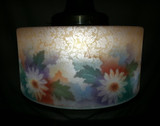 BELLOVA Glass Shade Hanging Light Fixture Cameo Acid Etched Reverse Painted