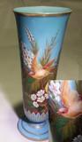 Baccarat French Art Nouveau Blue Opal Glass Vase