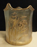 French Art Nouveau Cameo Glass / Acid Cutback Vase Signed St. Denis