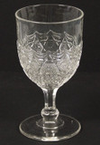 Leverne Pattern Glass Goblet - EAPG