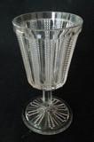 Paneled Dewdrop Pattern Glass Goblet EAPG