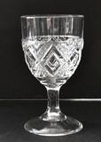 Grand Pattern Glass EAPG Goblet AKA Diamond Medallion