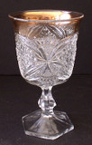 Pattee Cross Antique Early American Pattern Glass Goblet