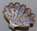 Antique Enameled Gilt Clam Shell Shaped Dish SOLD