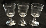 Scalloped Tape EAPG Goblets - Set of 3