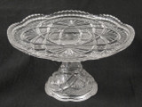Ada Pattern EAPG Pedestal Cake Stand