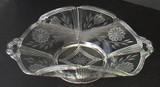 Beautifully Engraved Elegant Glass Serving Bowl