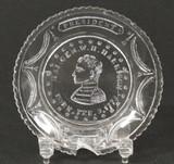 Harrison Flint Glass Cup Plate Lee #569