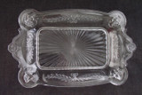 Jenny Lind Antique Pressed Glass Bread Plate