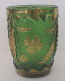 Delaware Pattern Glass Green Tumbler