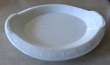 Milk Glass Bread Plate Give Us This Day Belknap