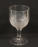 Double Loop & Dart EAPG Glass Goblet