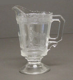 Egyptian Pattern Glass Creamer EAPG