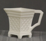 Roman Cross Milk Glass Creamer
