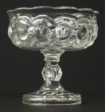Electric Pattern Glass Compote - EAPG