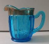Dolly Madison / Jefferson #271  Blue EAPG Creamer