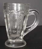 Kansas / Jewel and Dewdrop Pattern Glass Mug