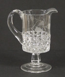 Mascotte Creamer with Engraved Decoration EAPG