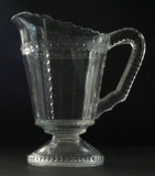 Scalloped Tape Pattern Glass Creamer EAPG