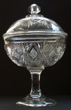 Sheaf & Diamonds HS Covered Compote