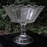 Sedan Pattern Glass High Standard EAPG Compote