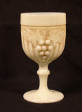 Grape & Gothic Arches Custard Glass Goblet