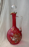 Galle Enameled French Art Nouveau Wine Decanter