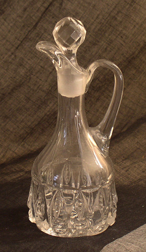 Thompson Glass Torpedo pattern cruet