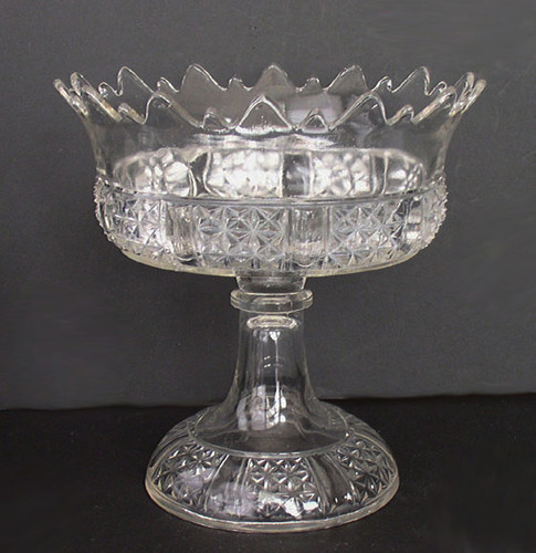 Six Panel Finecut Compote, Findlay Glass, Dalzell, Gilmore & Leighton