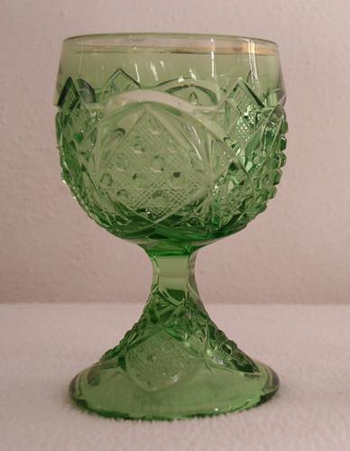 McKee Glass Sunbeam pattern wine glass