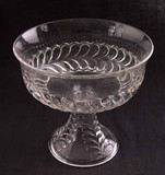 early american pattern glass plume pattern compote