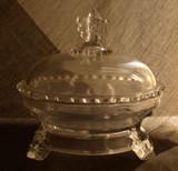 Viking Pattern Glass EAPG Butter Dish
