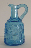 Log and Star Blue Cruet Findlay Glass
