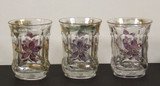 Flower and Honeycomb Set of 3 Tumblers