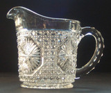 Imperial Glass Star Medallion Creamer