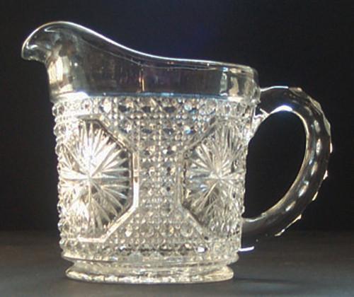 Imperial Glass Star Medallion Creamer
